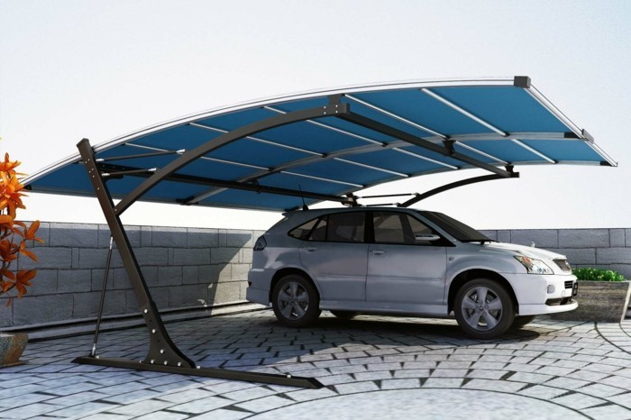 3d carport av metall