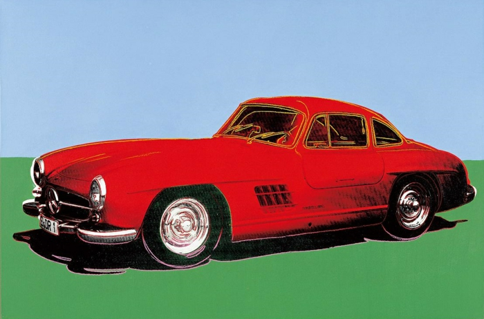 Andy Warhol jobber Mercedes 300 SL Coupe