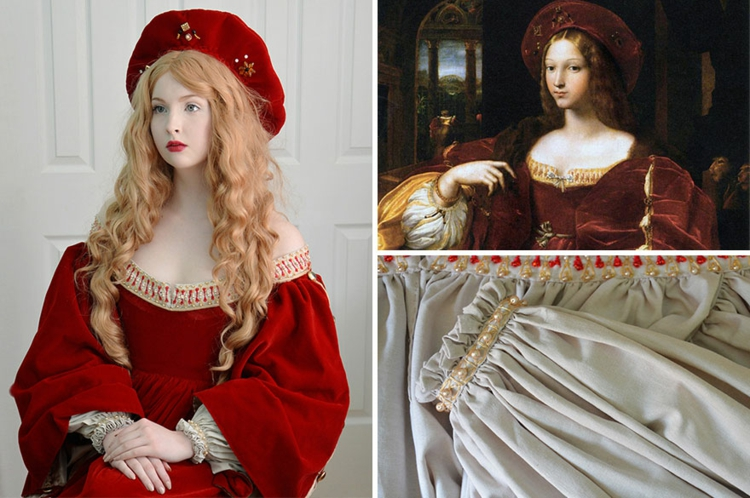 Sew on Angela Clayton's own historical costumes