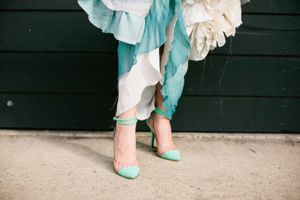 Arielle the mermaid wedding decoration shoes