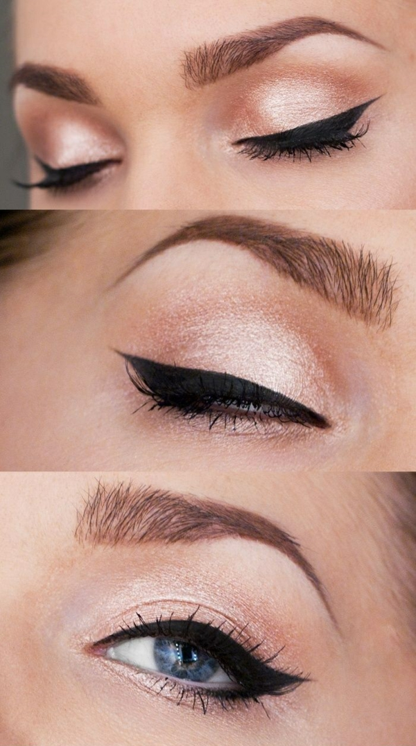 Eye Make Up Steg för steg ögonmakeup kajal eyeliner