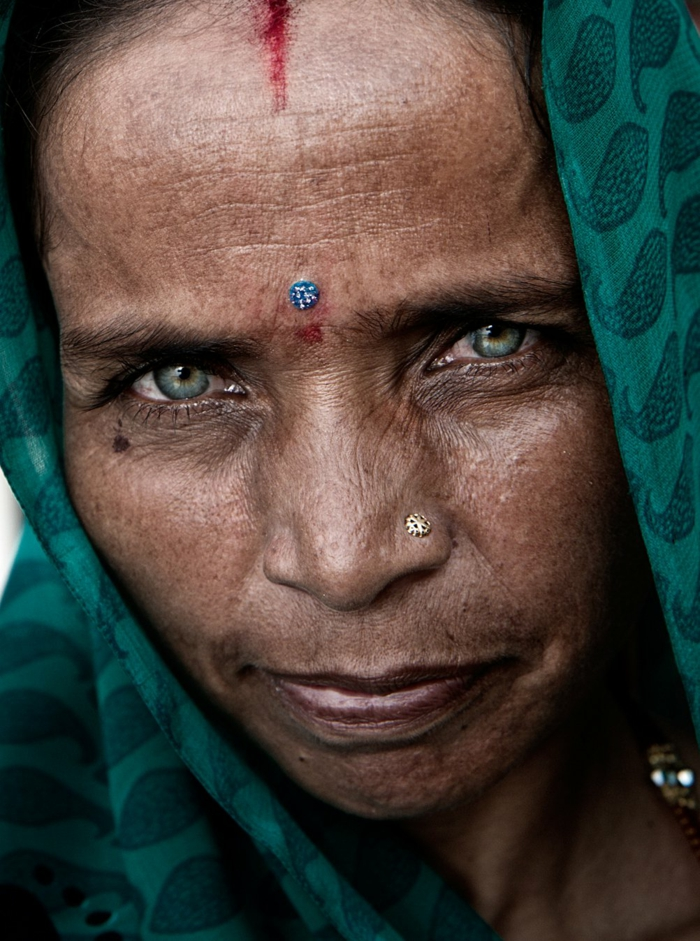 Eye color meaning india old lady