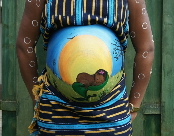 Baby belly painting vtl title