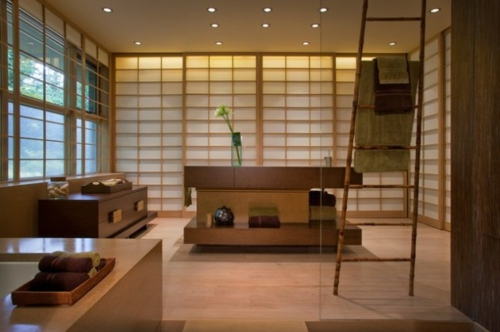 Bathroom Designs in Asian-style wood-furniture
