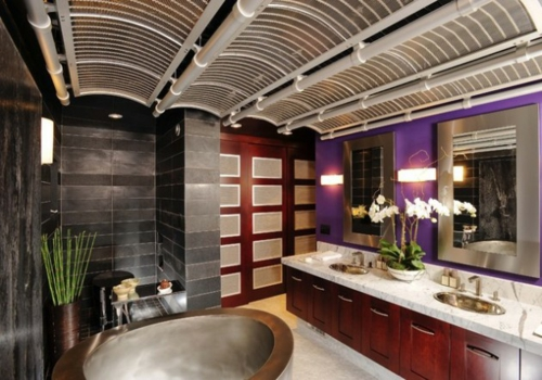 Bathroom Designs in Asian-style rooms ceiling-decoration