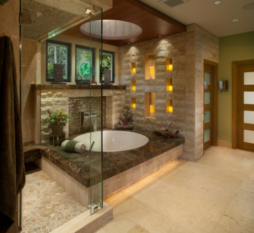 Bathroom designs in asian shower cabin glass walls