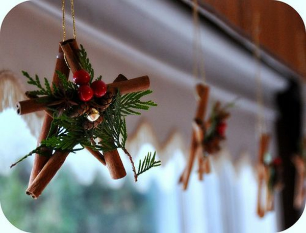 Crafts ideas for windows Christmas decoration cinnamon