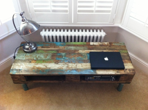 DIY craft ideas worn out Cool furniture Euro pallets
