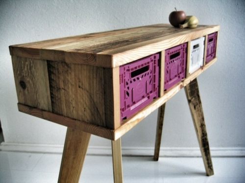 DIY craft ideas keep cool furniture made of Euro pallets