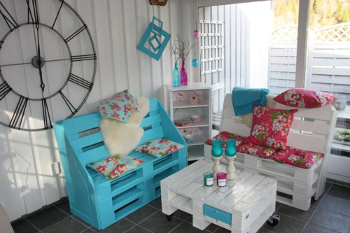 Cool furniture DIY craft ideas comfortable Euro pallets