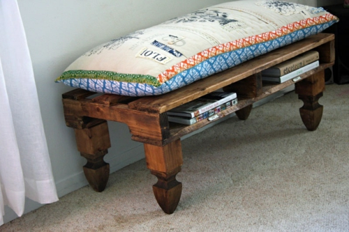 Cool furniture from Euro-pallets DIY craft ideas-bench-roll