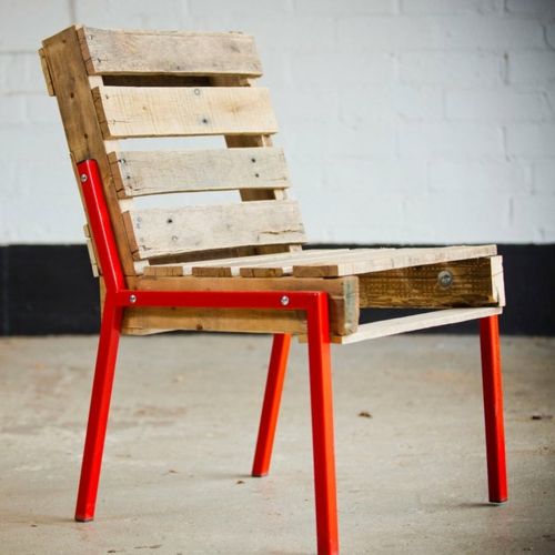 craft ideas chair back Cool furniture made of Euro pallets DIY