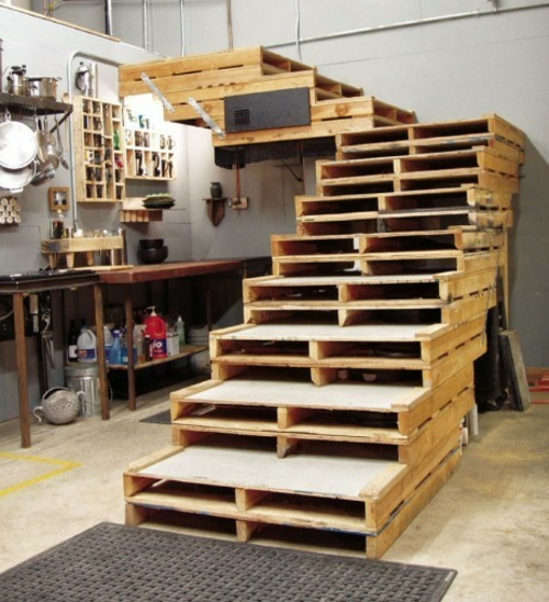craft ideas staircase Cool furniture made of Euro pallets DIY