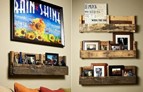 craft ideas wall shelves Cool furniture made of Euro pallets DIY