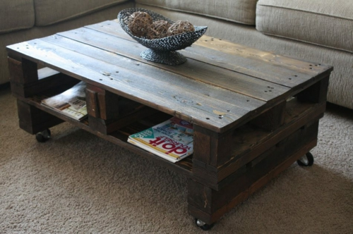craft ideas living room table Cool furniture made of Euro pallets DIY