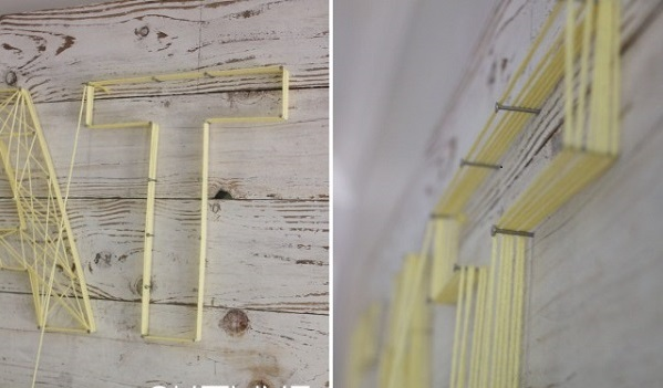 DIY decoration ideas from reclaimed wood string technology green