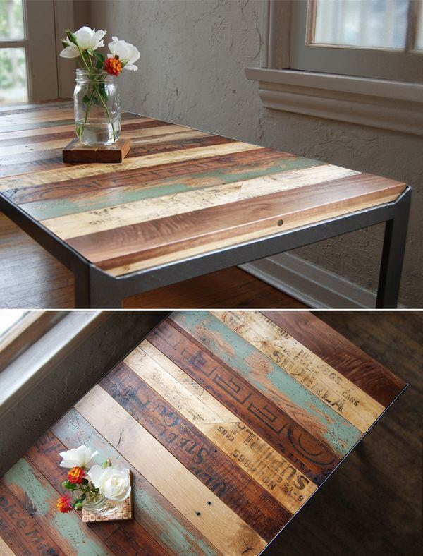 Tables made of europallets coffee table combined wood species flower vase