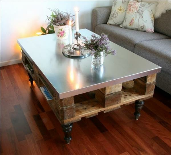 DIY tables made of europallets coffee table useful