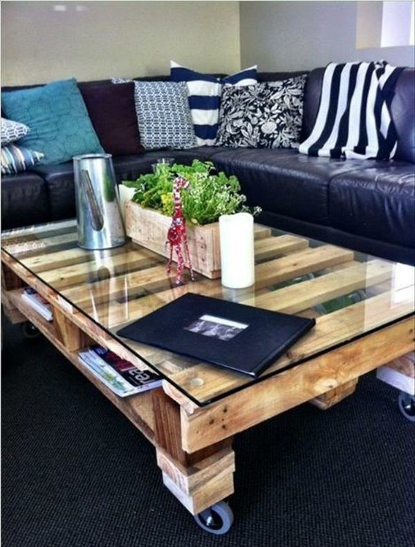 DIY tables made of europallets coffee table living room roll
