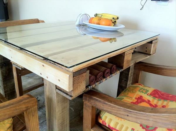 Tables made of europallets dining room kitchen dining table