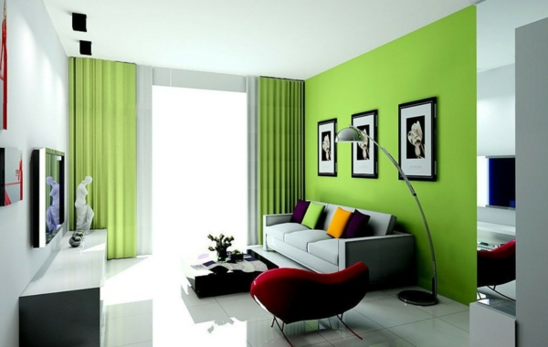 Walls wall design living room curtains color ideas