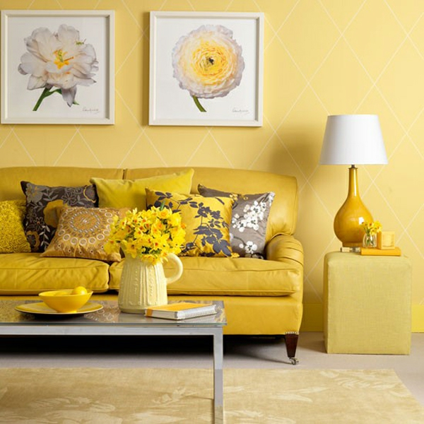 Color ideas for walls wall design living room yellow sunny