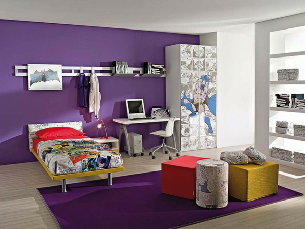 Color ideas colorful walls wall design living room purple