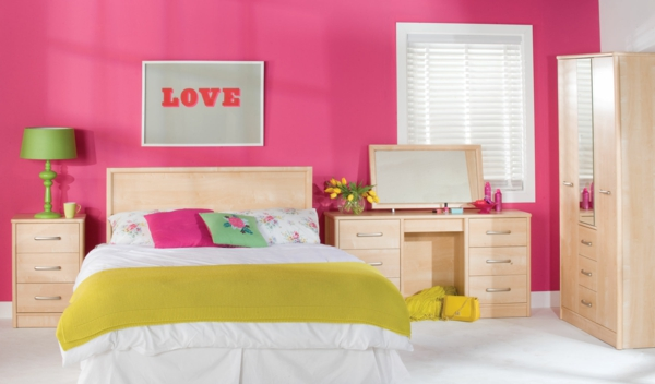 Color ideas girl room walls wall design living room pink