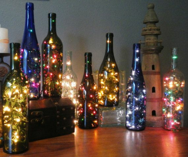 Garrafa deco Christmas spray fairy lights