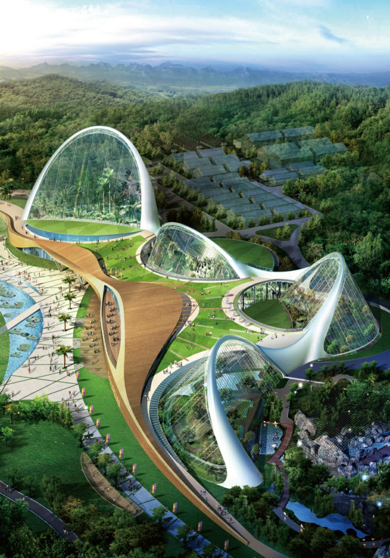 Arquitectura futurista Build and Life Ecorium Corea del Sur