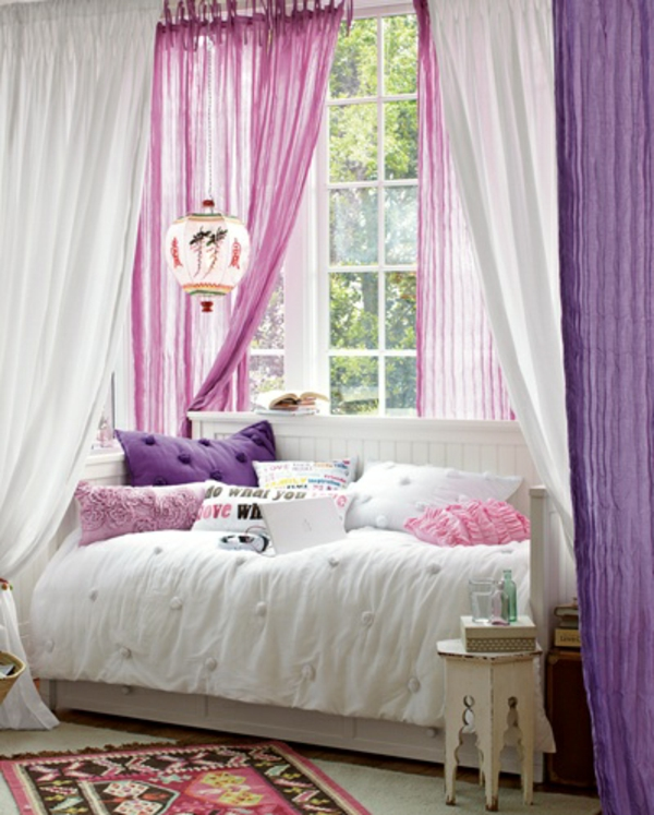 Modern Curtain Ideas Cortinas Janela Designer Purple Pink