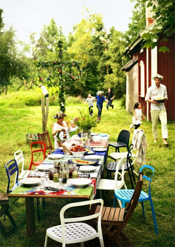 Garden house Sweden style party garden