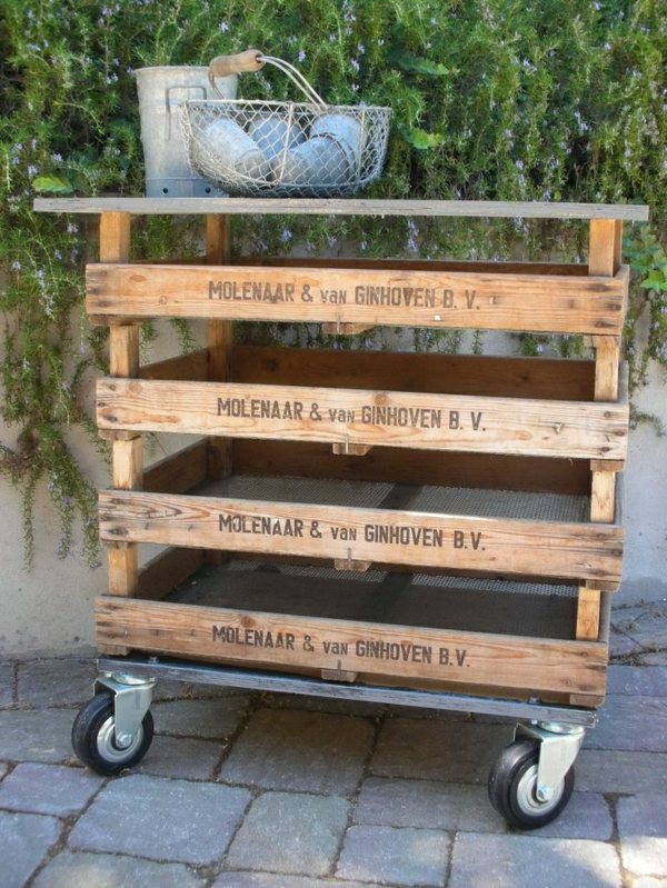 Garden furniture made of pallets garden table with storage space