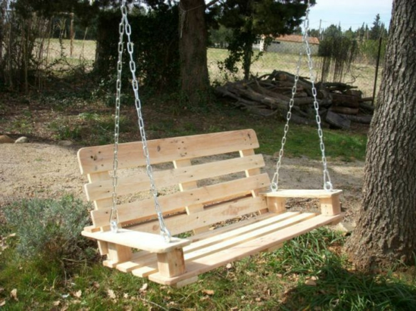 Garden furniture made of pallets rocking chair yourself