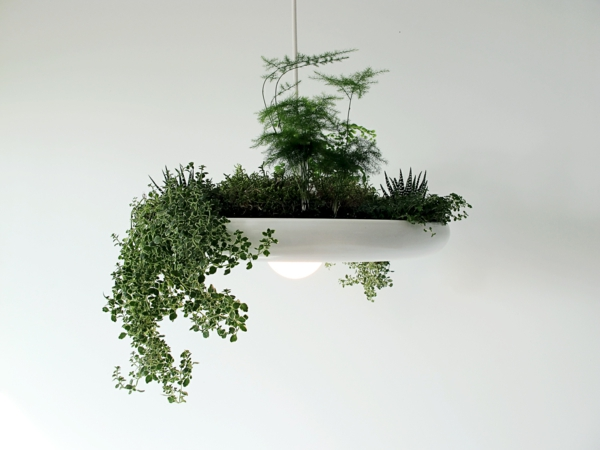 Green plants light pictures chandelier flowerpot design