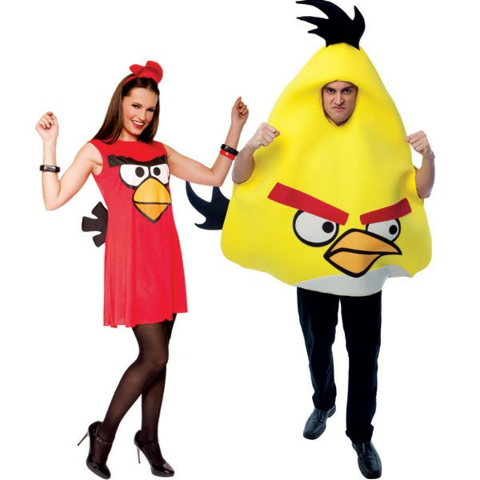 Halloween costumes make angry birds