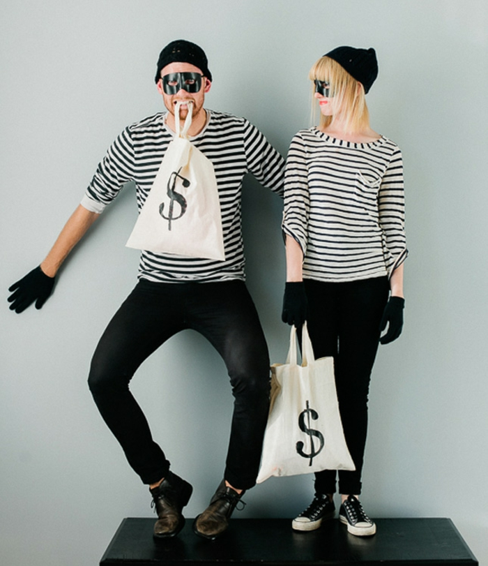 Halloween costumes themselves make bank robbers