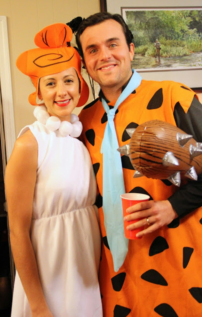 Halloween costumes themselves make couples fred and wilma