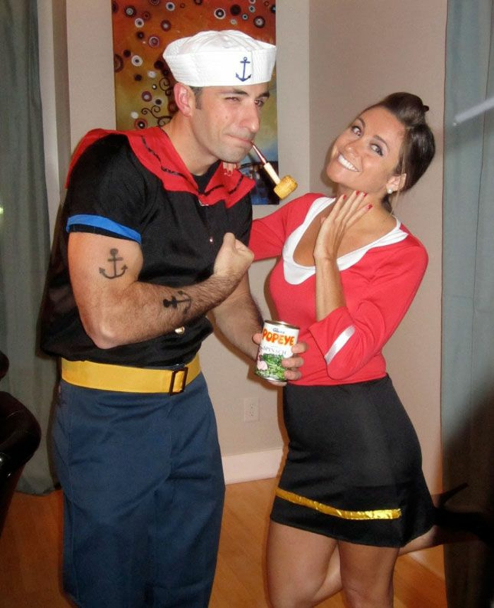 Halloween costumes themselves make couples Popeye
