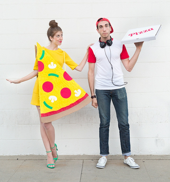Halloween costumes make pizza yourself