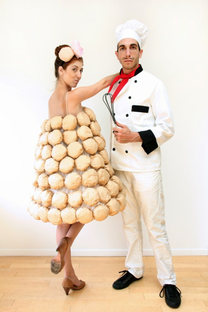Halloween costumes themselves make bakers and bread for two