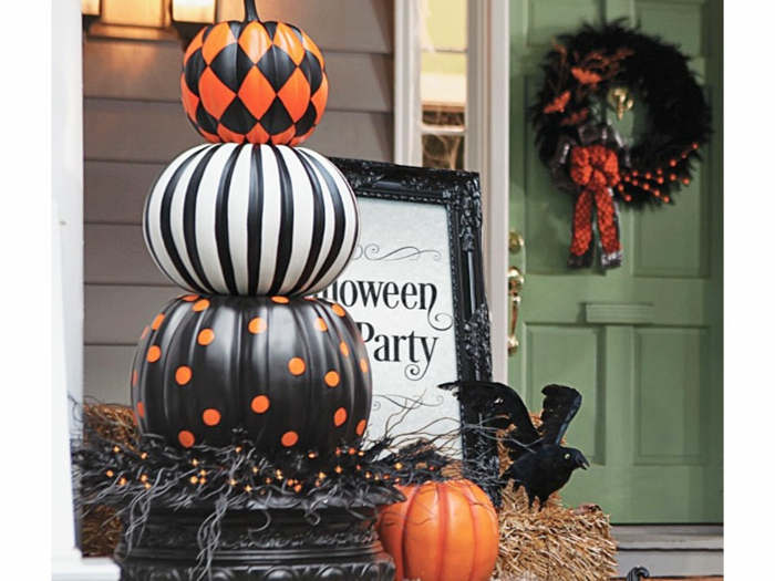Helloween Deco Black Pumpkins