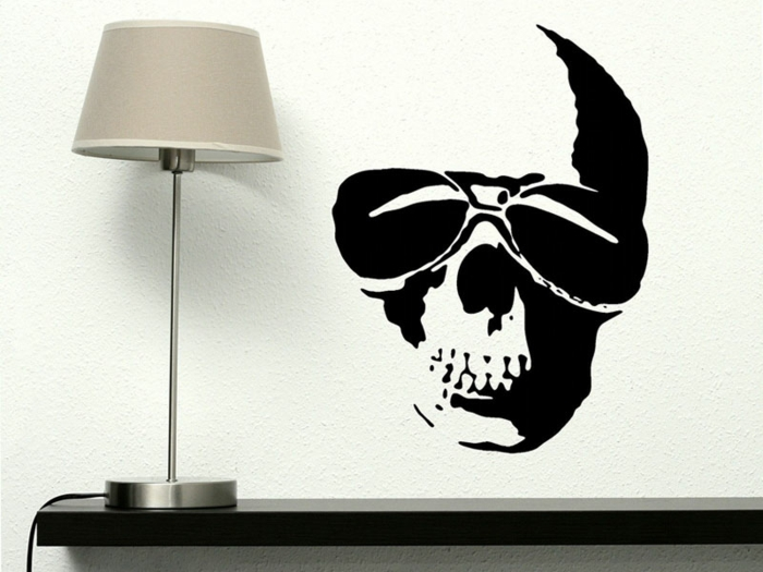 Helloween deco branco preto wallticker