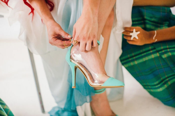 Wedding decoration ideas table decoration shoes