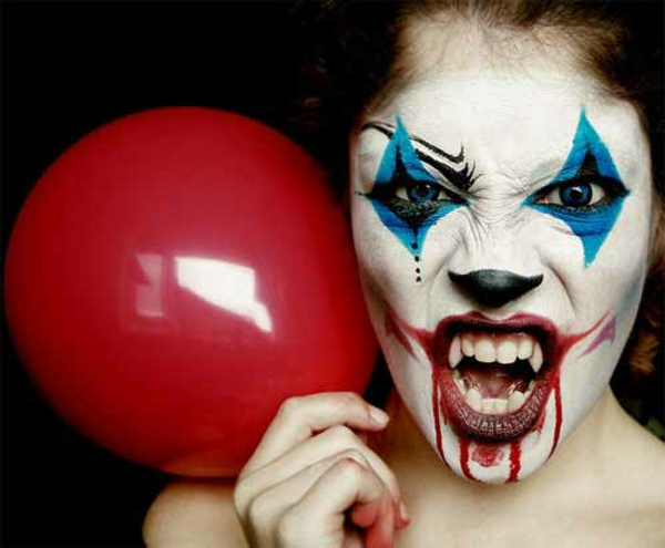 Halloween pictures horror balloon face colors