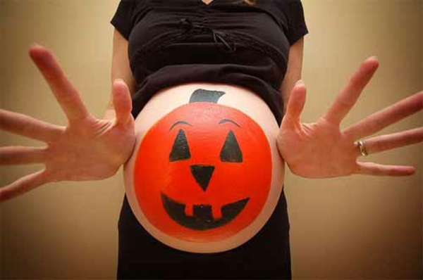 Horror halloween pictures belly pregnant horror