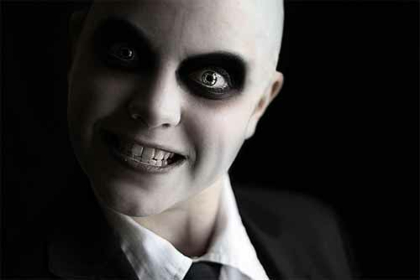 Horror faces make-up black halloween pictures man evil