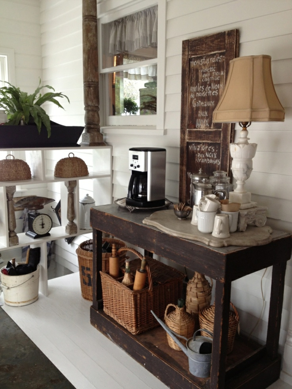 Coffee bar in your kitchen design rustic style of living