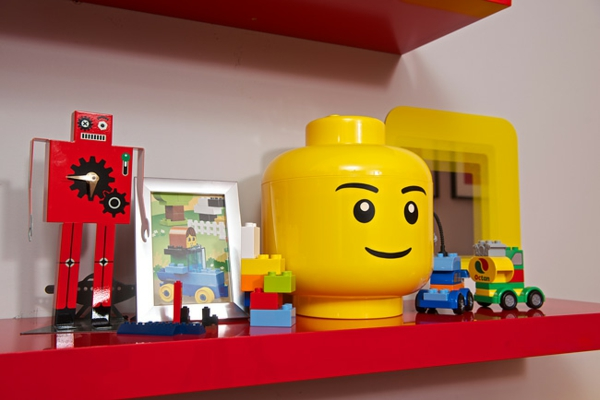 Nursery cheerful LEGO style set up pieces