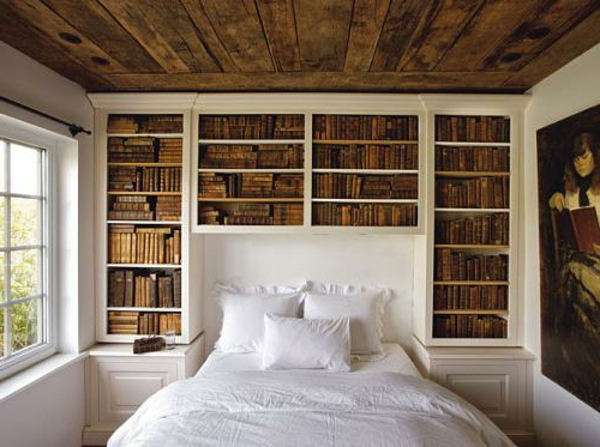 Headboards wood beds bookshelves classic bedroom